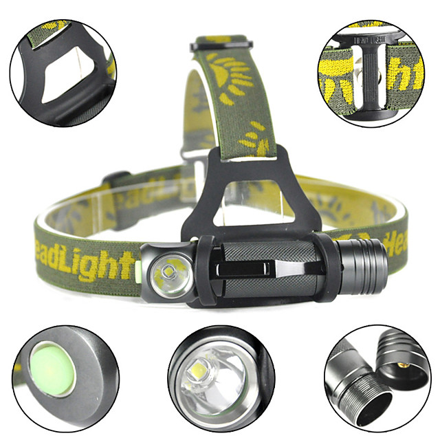LITBest Cap Lights 1000 lm LED LED Emitters 3 Mode Rotatable Camping / Hiking / Caving Everyday Use Cycling / Bike Warm White Light Source Color