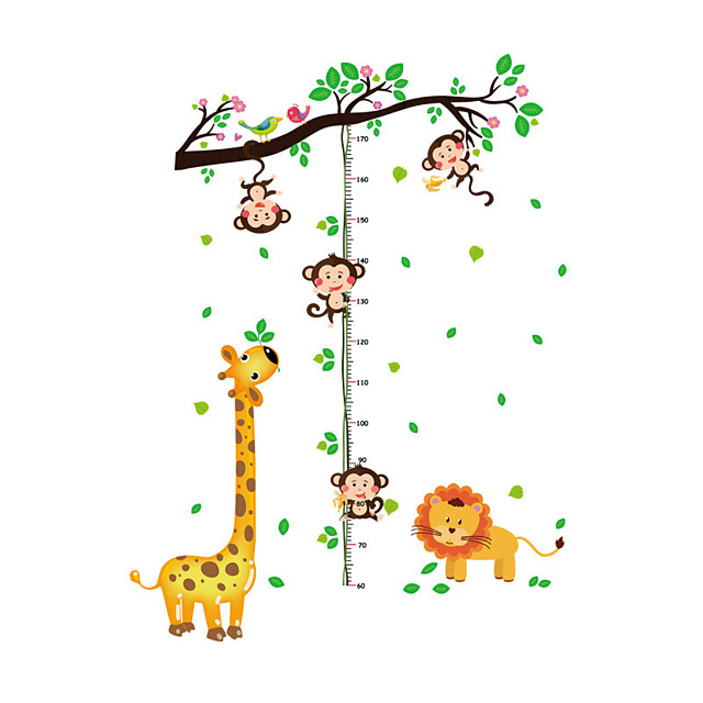 The Monkey Measures Your Height Height Stickers - Animal Wall Stickers Animals / Floral / Botanical Living Room / Indoor