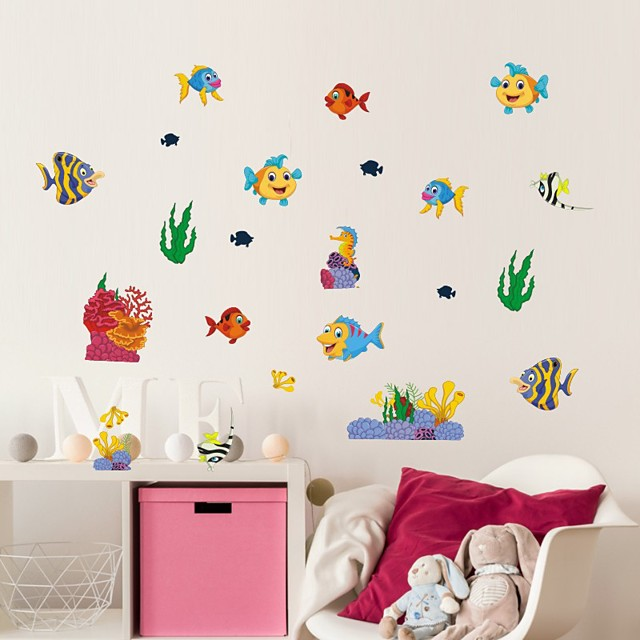 Animals / Nautical Wall Stickers Plane Wall Stickers Decorative Wall Stickers, PVC Home Decoration Wall Decal Wall / Window Decoration 1pc
