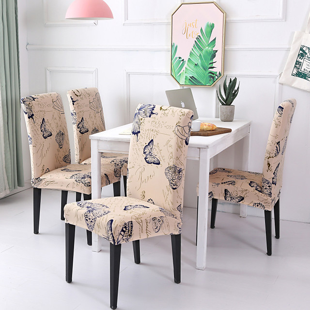 Chair Cover Scenery / Contemporary Printed Polyester Slipcovers
