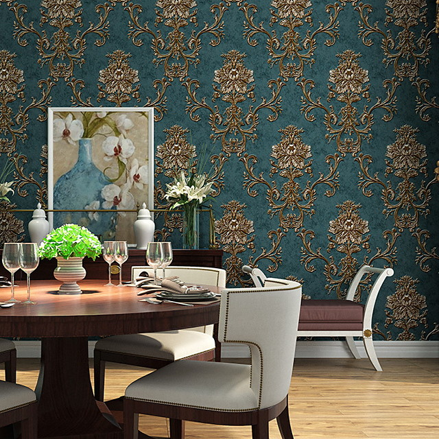 Floral / Botanical Home Decoration Modern Wall Covering, Nonwoven Material Adhesive required Wallpaper, Room Wallcovering