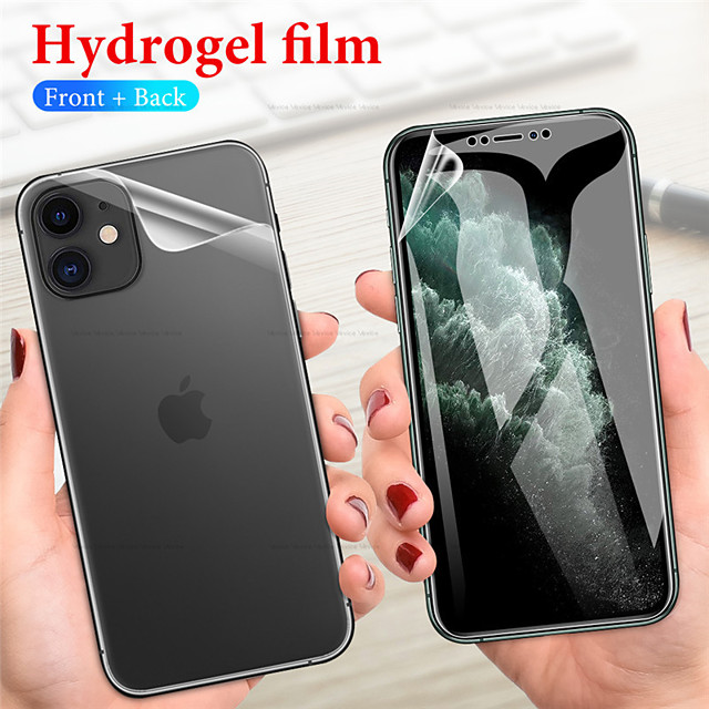 Ultra-thin front and rear TPU hydrogel protective film iPhone11 Pro Max iPhoneX / Xs XR XSMAX iPhone7 / 8 Plus hydrogel protective film