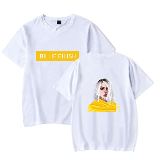 Inspired by Cosplay Billie Eilish Cosplay Costume T-shirt Cotton Fibre Print Printing T-shirt For Men's / Women's