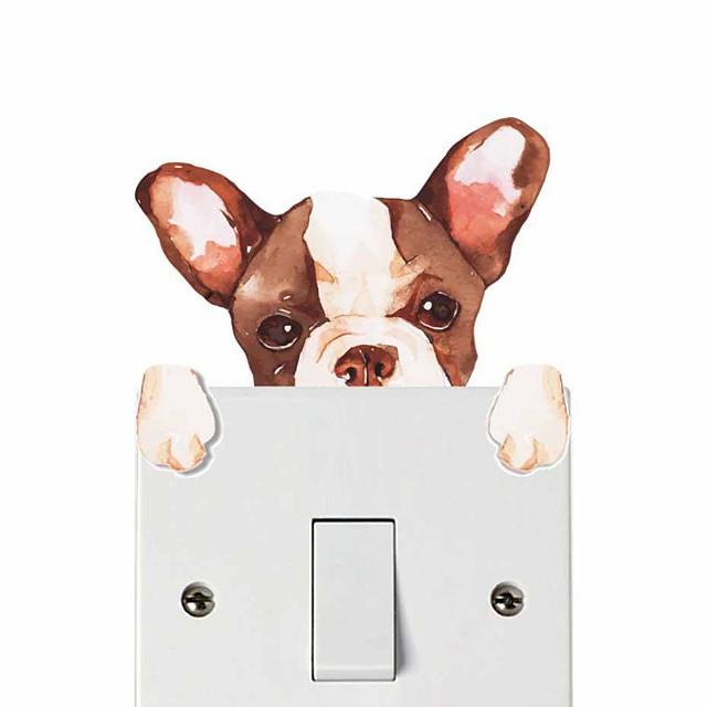 Light Switch Stickers - Plane Wall Stickers / Animal Wall Stickers Animals Nursery / Kids Room
