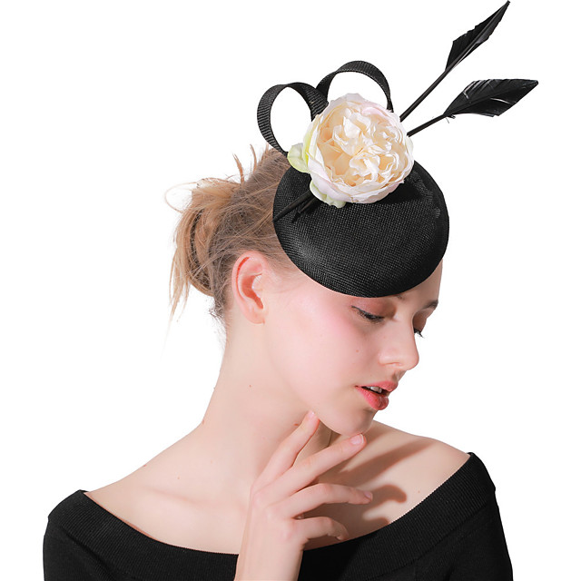 Headpieces Wedding Polyester Fascinators / Hats / Headwear with Feathers / Fur / Flower 1 Piece Wedding / Party / Evening Headpiece