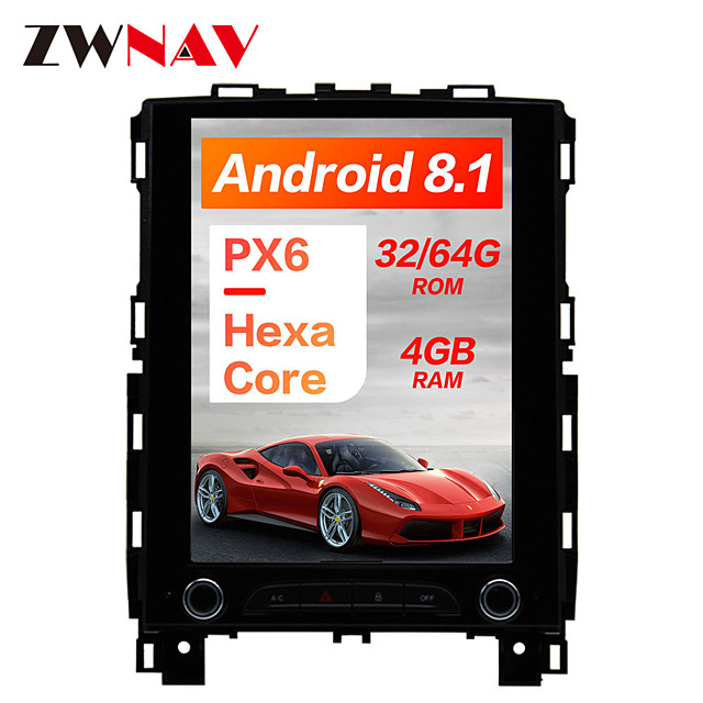 ZWNAV 10.4 inch 1DIN Android 8.1 4GB 64GB DSP PX6 Vertical screen In-Dash Car DVD Player Car GPS navigation Car multimedia player radio tape recorder For Renault KOLEOS / megane 4