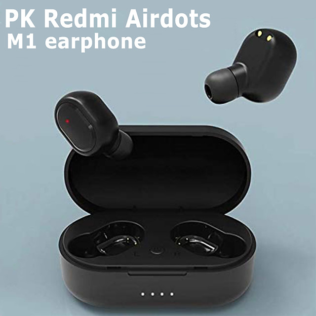 LITBest M1 TWS Earbuds TWS True Wireless Earbuds Wireless Bluetooth 5.0 Stereo HIFI 1 to 1 Replica for Travel Entertainment