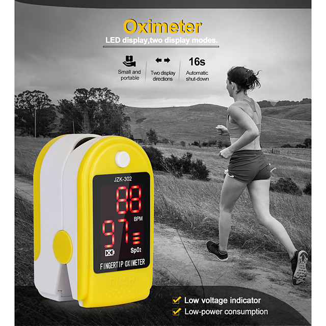 Medical Household Digital Fingertip Pulse Oximeter Blood Oxygen Saturation Meter Finger Monitor Health Care