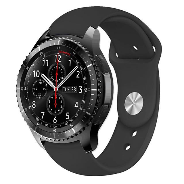 Watch Band for Gear S3 Classic / Gear 2 R380 / Gear 2 Neo R381 Samsung Galaxy Modern Buckle Silicone Wrist Strap
