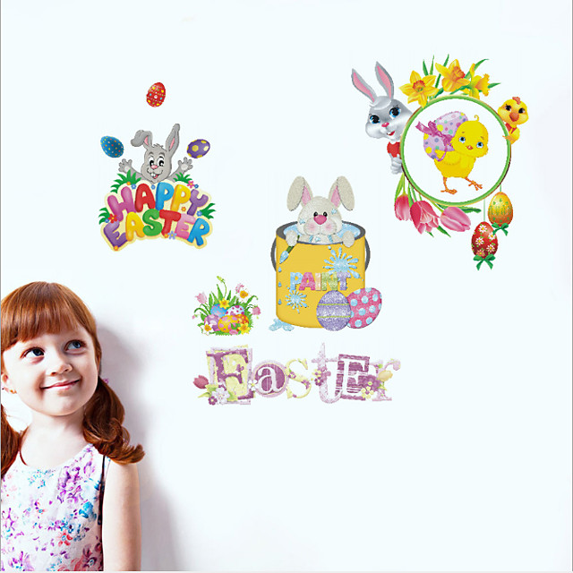 Happy Easter bunny egg Decorative Wall Stickers - Plane Wall Stickers Holiday Indoor