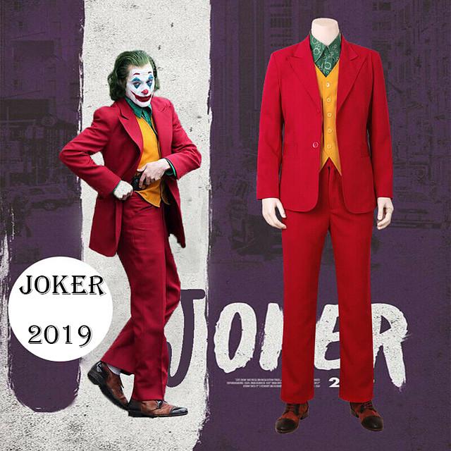 Joker Cosplay Costume Outfits Men's Movie Cosplay Suits RedYellow Vest Shirt Top Halloween Masquerade Terylene / Pants / Pants
