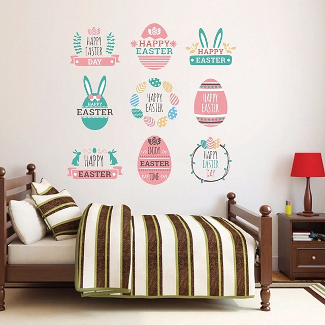 Happy easter Wall Stickers Plane Wall Stickers Decorative Wall Stickers, PVC Home Decoration Wall Decal Wall Decoration 1pc