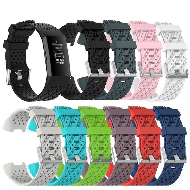 Watch Band for Fitbit charge3 Fitbit Sport Band / Classic Buckle Silicone Wrist Strap