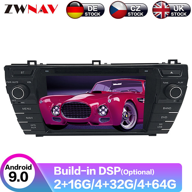 ZWNAV 8inch 2din Android 9 Car DVD player Car Multimedia Player Car GPS Navigation radio tape recorder SAT NAV For Toyota Corolla 2013-2015