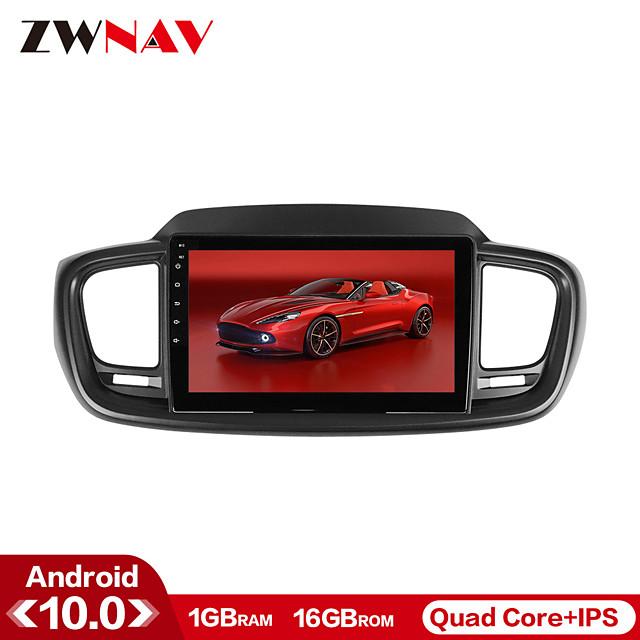 ZWNAV 10.1 inch 1din Android 10.0 1GB 16GB Car Multimedia Player Car MP5 Player Car Stereo for KIA Sorento 2015-2016 with GPS Navigation Mirrorlink Bluetooth WiFi