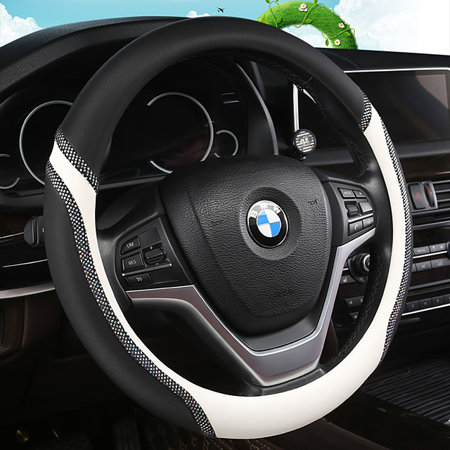 Universal Car Steering Wheel Cover Artificial PU Leather Comfortable Non-slip Automobile Steering-Wheel Cover