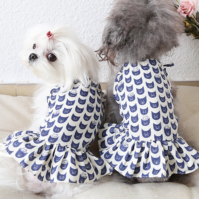 Dog Costume Dress Dog Clothes Breathable White Costume Beagle Bichon Frise Chihuahua Fabric Character Party Cute XS S M L XL