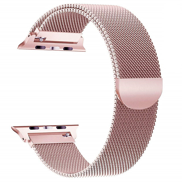 Milanese Stainless Steel Band for Apple watch 44mm/40mm/42mm/38mm iwatch5/4/3/2/1 Stainless Steel Chain Steel Wristband Magnetic Buckle