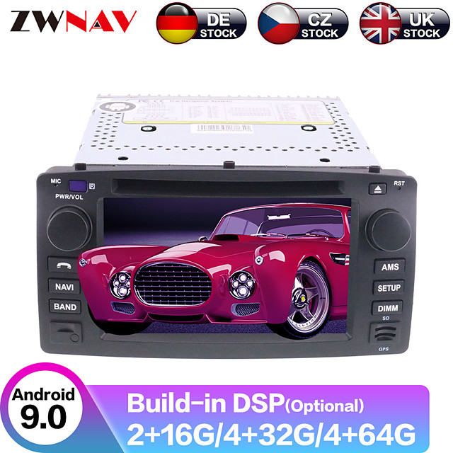 ZWNAV 7inch 2din Auto stero Android 9 4G 64GB Car GPS Navigation Car DVD player car Multimedia Player Radio tape recorder For Toyota Corolla EX 2001-2006