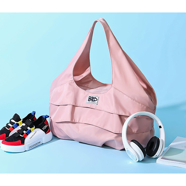 Women's Zipper Oxford Cloth Top Handle Bag Solid Color Blushing Pink / Black
