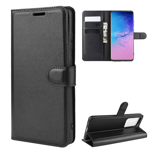 For Galaxy S20/S20 Plus/S20 Ultra Litchi Texture Horizontal Flip Protective Case with Holder & Card Slots & Wallet