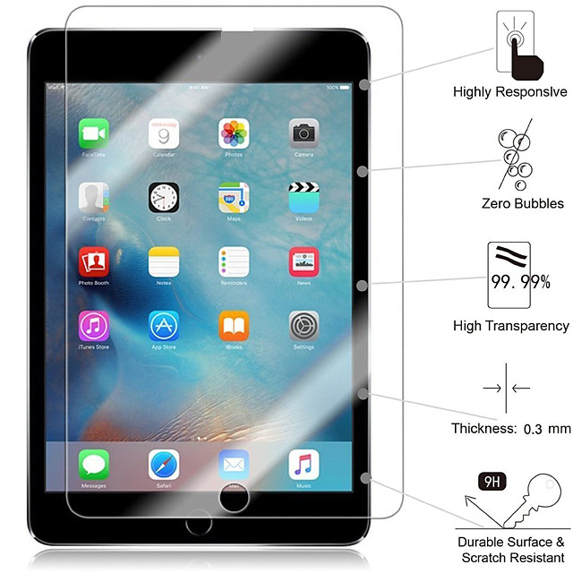 iPad Tempered Film Suitable For Mini123 Anti-fingerprint Anti-scratch iPad234 Super Strong Second-generation Tempered Glass With high-end Packaging