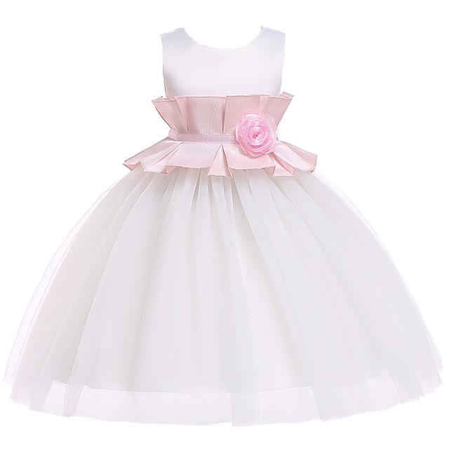 Princess Dress Flower Girl Dress Girls' Movie Cosplay A-Line Slip Cosplay Pink / Beige Dress Halloween Carnival Masquerade Tulle Polyester