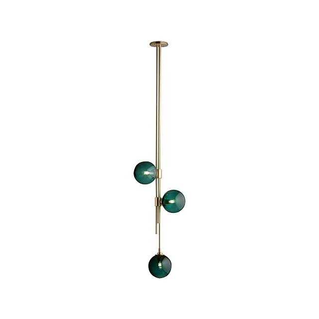 3-Light 30 cm Single Design Pendant Light Metal Glass Electroplated Modern / Nordic Style 110-120V / 220-240V