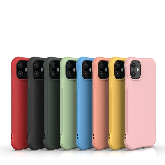Case For Apple iPhone 11 / iPhone 11 Pro / iPhone 11 Pro Max Ultra-thin Back Cover Solid Colored TPU For iPhone XR/XS Max/X/7/8 Plus/6/6s Plus
