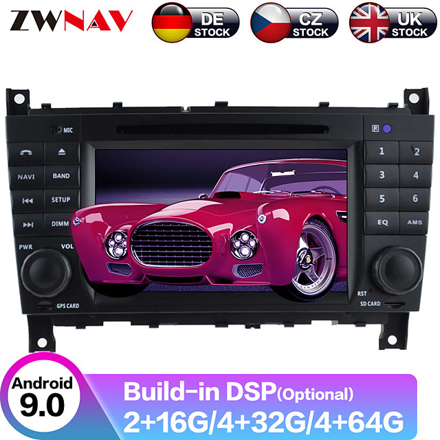ZWNAV 8inch 2din DSP 4GB 64G Android 9 Car DVD Player GPS navigation auto car Multimedia Player Car MP5 Player radio tape recorder For Benz C-Class W203 2004-2007