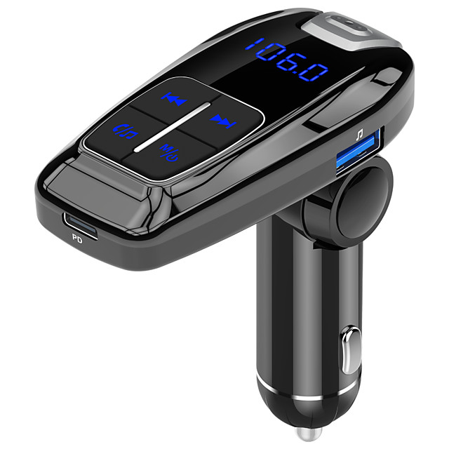 FM Transmitter Modulator Bluetooth 5.0 Handsfree Car Kit Audio MP3 Player With QC3.0 QC4.0 5A Fast Car Auto Charger Wireless Audio Adapter and Receiver PD18W