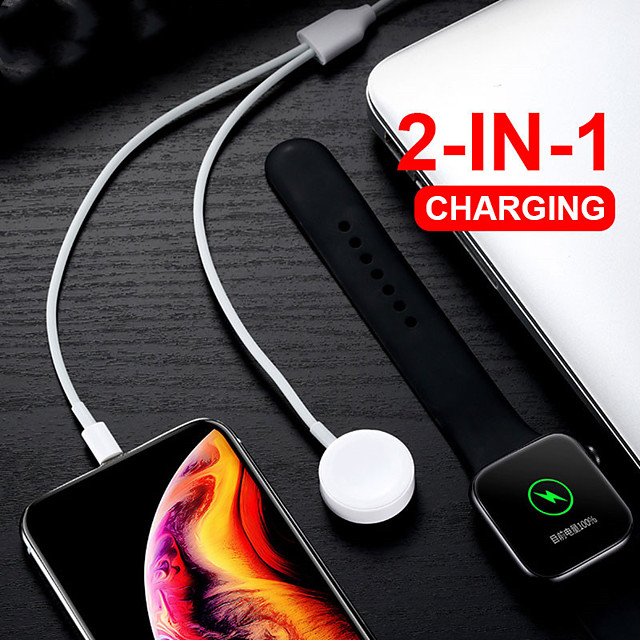2 In 1 Wireless Charger for Apple Watch 1 2 3 4 fast Charging USB Cable for iPhone 11 Pro Max X Xs 8 Plus IPad USB Data