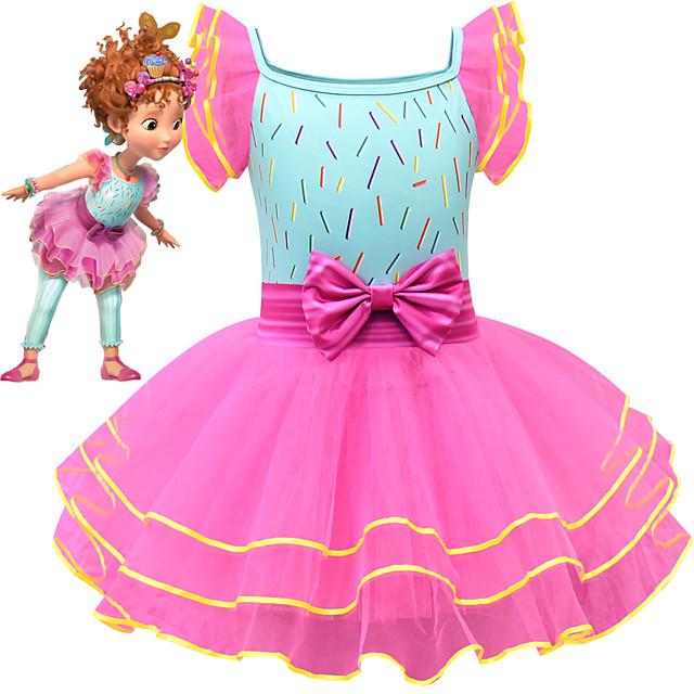 Fancy Nancy Dress Cosplay Costume Girls' Movie Cosplay Cosplay Costume Party Pink Dress Tulle Polyster