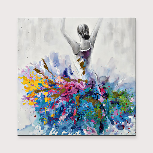 Dancing Girl Canvas Abstract Portrait Impressionism Contemporary Abstract Oil painting On Canvas