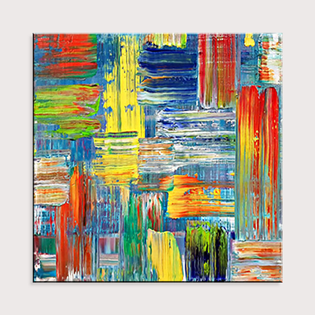 Hand Painted Abstract Lines Oil Painting on Canvas Home Decor Wall Painting Modern Art