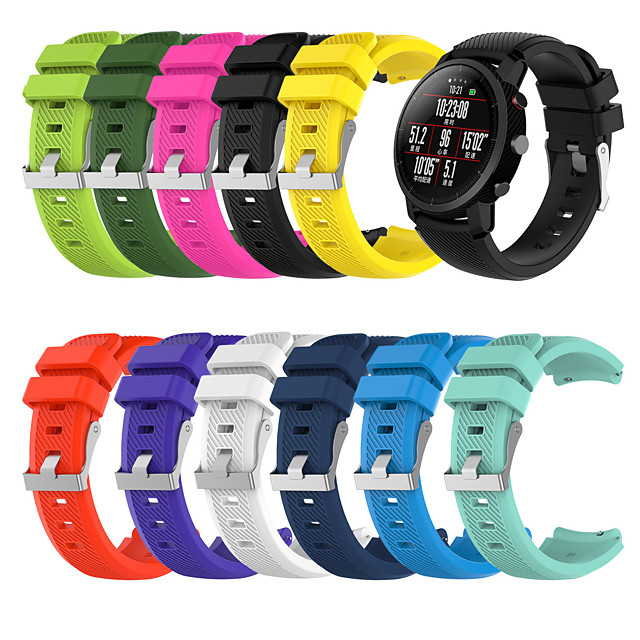 Watch Band for Gear S3 Frontier / Gear S3 Classic Samsung Galaxy Classic Buckle Silicone Wrist Strap