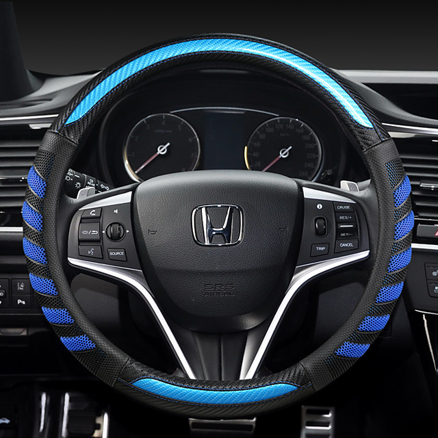 Honda fashion Car Steering Wheel Covers PU Leather 38cm Breathable Anti Slip For universal Four Seasons Auto Accessories