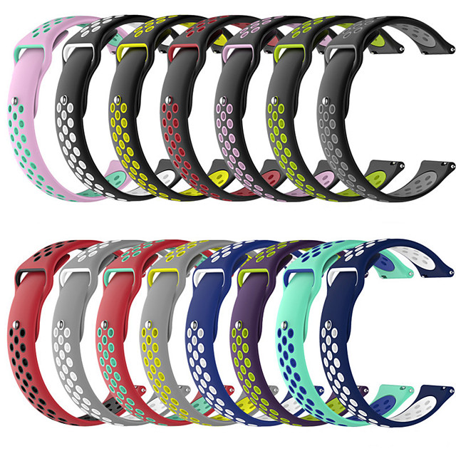 Watch Band for Gear S3 Frontier / Gear S3 Classic / Gear 2 R380 Samsung Galaxy Sport Band Silicone Wrist Strap