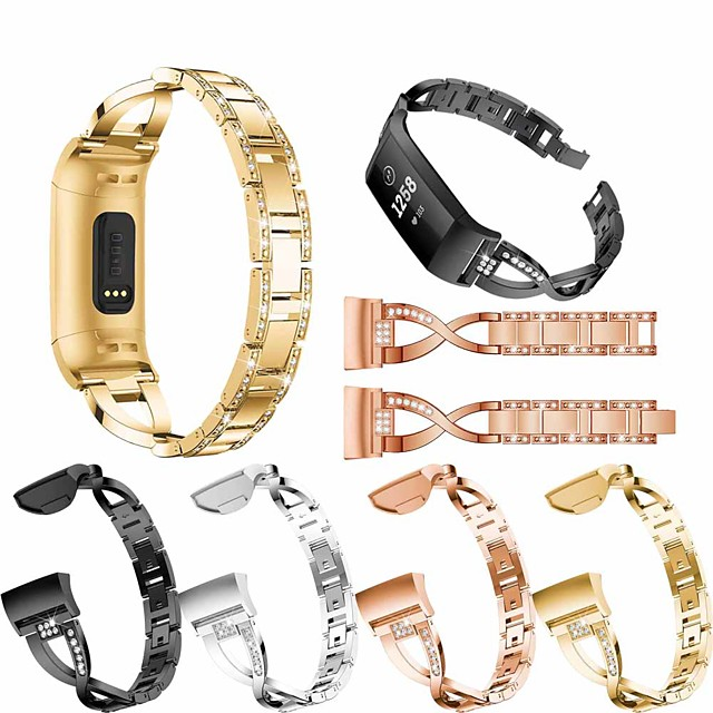 Watch Band for Fitbit charge3 Fitbit Jewelry Design Stainless Steel Wrist Strap