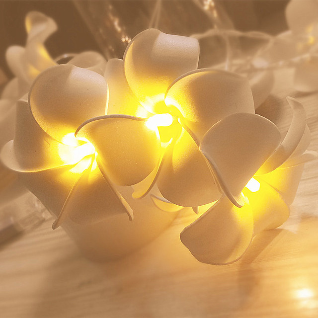 Plumeria String Light LED String Light Lantern Decoration Ins Artificial Flower String Light