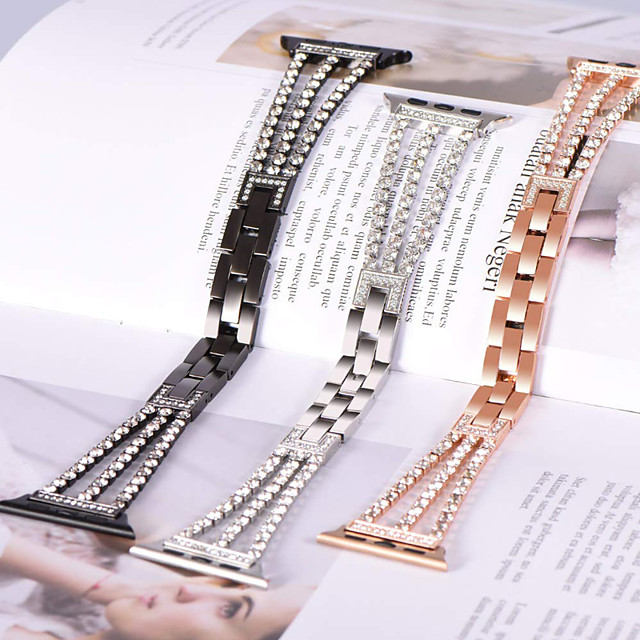 High-end Fashion bracelet for Apple Watch Band 38/40mm  42/44mm Strap Diamond Metal Watchband For iWatch Series 5/4/3/2/1 wrist belt
