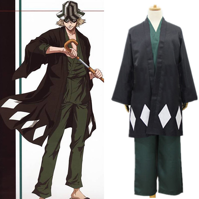 Inspired by BLEACH Urahara Kisuke Anime Cosplay Costumes Japanese Cosplay Suits Coat Pants Cloak For Women's