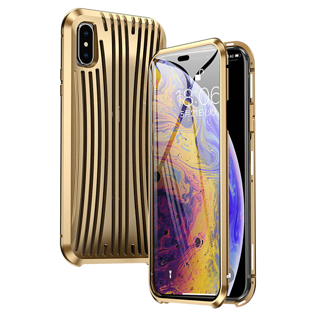 Case For Apple iPhone XS Max Shockproof Full Body Cases Solid Colored Metal