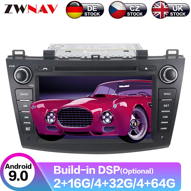 ZWNAV 8inch 2din 4GB 64GB Android 9 Car GPS Navigation Car DVD Player auto stereo Car multimedia player radio tape recorder For Mazda3 Axela 2009-2012