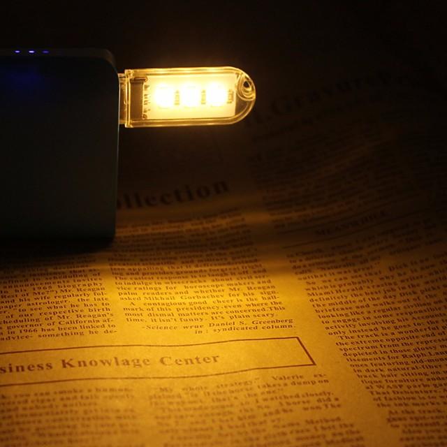 Mini USB LED Night Light Portable Reading Lamp 3 SMD 5730 DC 5V Book Lamp White Warm White for Computer Laptop *2