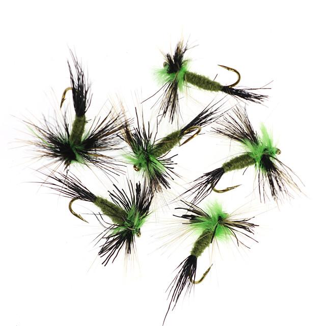 6 pcs Flies Flies Floating Bass Trout Pike Fly Fishing Freshwater Fishing Bass Fishing Metal / General Fishing