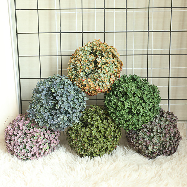 1pcs Grass Ball Simulation Flower Home Decoration Wall Plant Wall