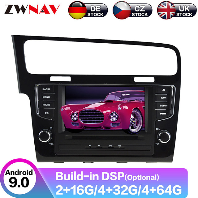 ZWNAV 7inch 2din 4GB 64GB 2.5D Android 9.0 Car MP5 Player Car GPS navigation Car multimedia player auto radio tape recorder stereo For Volkswagen Golf 7 2013