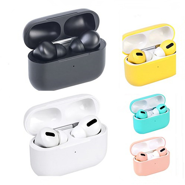 LITBest Macaron AirPro 3 TWS True Wireless Earbuds Rename GPS Find My Devices (iOS) Voice Control Hey Siri 1 to 1 Replica Automatic Ear Detection with Qi Wireless Charging Box Bluetooth 5.0