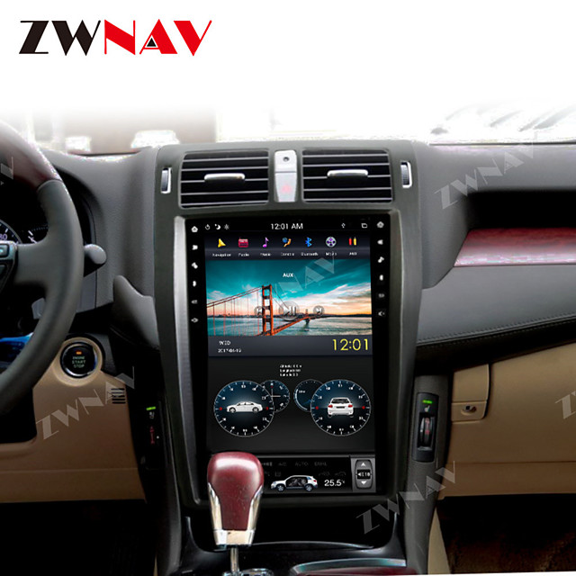 ZWNAV 13.5Inch 1din 4GB 64GB Android 8.1 vertical screen DSP Car GPS Navigation car multimedia player Car MP5 Player radio tape recorder HD For TOYOTA CROWN 2008-2012